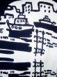 画像3: J0118K ゆかた 女性用着物 神戸の街並み 綿   白, ぼたん 【中古】 【USED】 【リサイクル】 ★★★☆☆ (3)