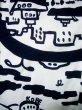 画像4: J0118K ゆかた 女性用着物 神戸の街並み 綿   白, ぼたん 【中古】 【USED】 【リサイクル】 ★★★☆☆ (4)